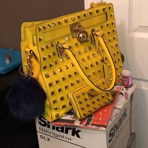 Michael Kors RARE Yellow Hamilton with wallet SET